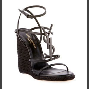 342a129d37cd1 Saint Laurent Shoes | Ysl Tribute Espadrille Wedge 36 Tan | Poshmark